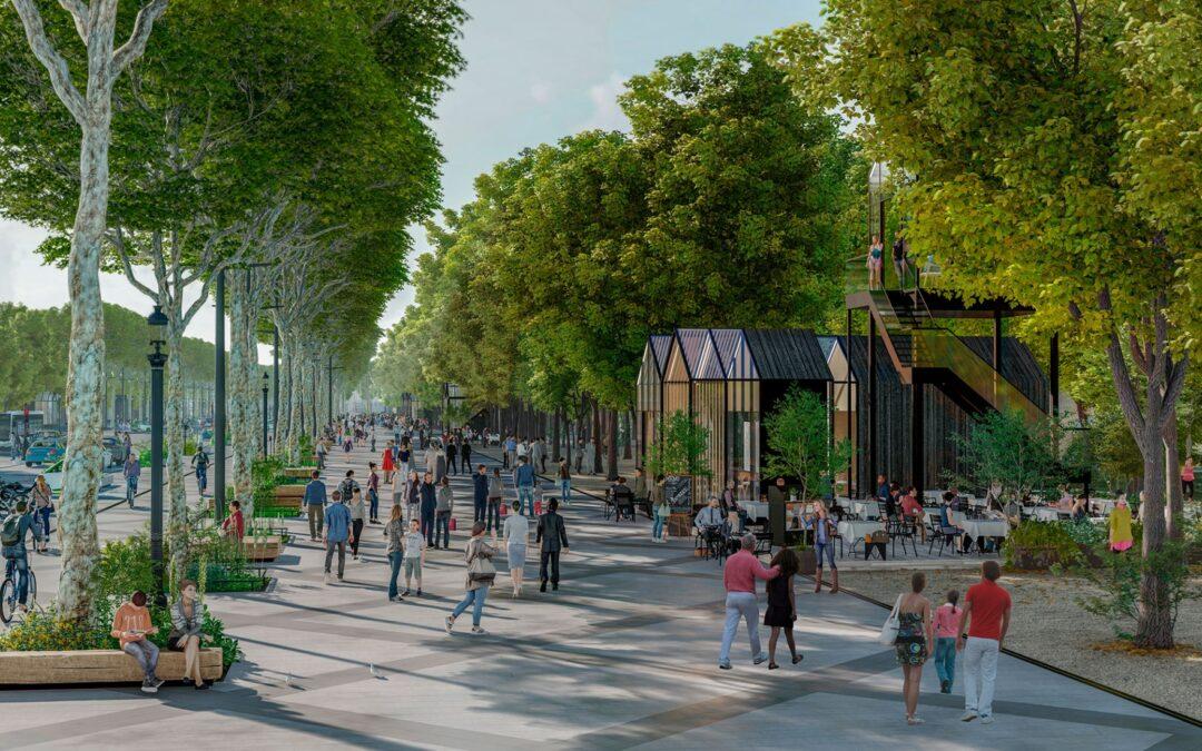 Champs-Élysées,  paradegaten i Paris blir grønn oase